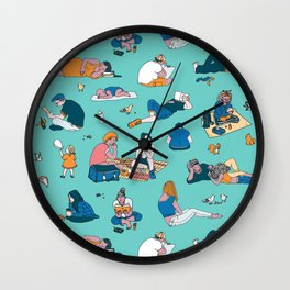 Sunday In A Park Wall Clock