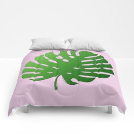 Palm Tree Leaf Art Print Comforters