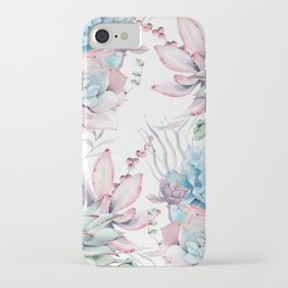 Pretty Pastel Succulents Garden 2 iPhone Case