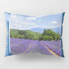 wooden shutters, lavender field Pillow Sham