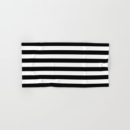 Black White Stripe Minimalist Hand & Bath Towel