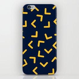 Boomerangs / V pattern iPhone Skin