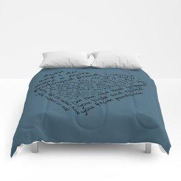 Quotes of the Heart - Destiel (Black) Comforters