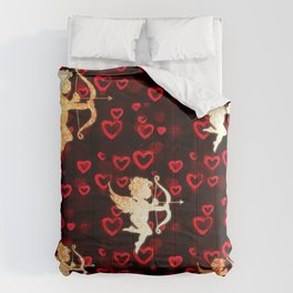 Cupids and Hearts Comforters