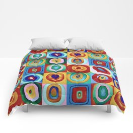 Colorful circles tile Comforters
