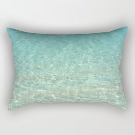 Colors of the Sea Water - Clear Turquoise Rectangular Pillow