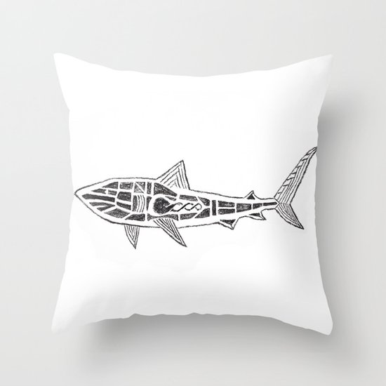 Shark Twist Throw Pillow