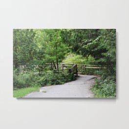 Bridge In The Woods - Heber Downs Conservation Area Metal Print