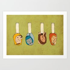 Some Girls Living In A Nailpolish Art Print