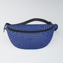 Angled Blue & Gold Fanny Pack