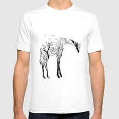 Camelopardalis Mens Fitted Tee White SMALL