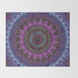 colorful fractal kaleidoscope Throw Blanket