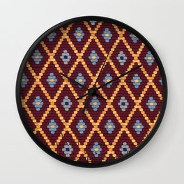 sibiu romania Evangelic cathedral church roof texture Wall Clock