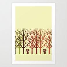 The duet Art Print