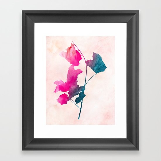 Maple_Watercolor 1 by Jacqueline & Garima Framed Art Print