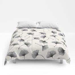 Ginkgo Leaves Cream Comforters