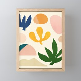 Abstraction_Floral_001 Framed Mini Art Print