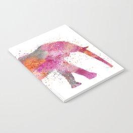 Artsy watercolor Elephant bright orange pink colors Notebook