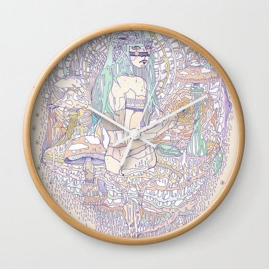 hues in moss Wall Clock