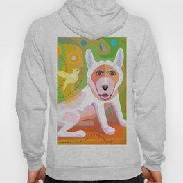 White Dog Scene Hoody