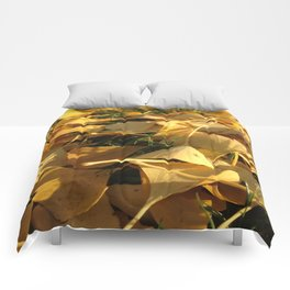 Yellow fall Comforters