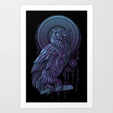 Owl Nouveau II Art Print