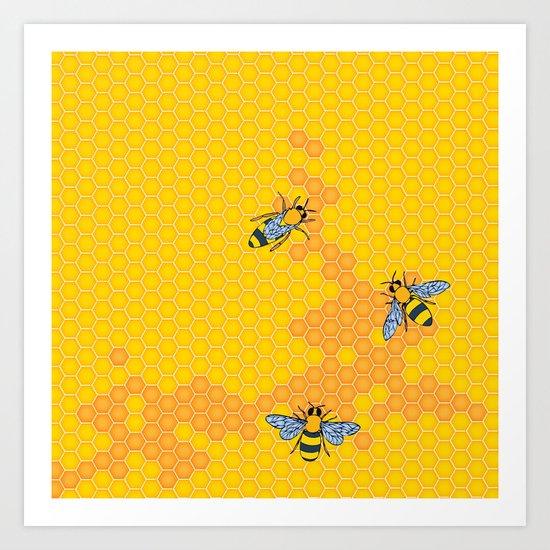 HoneyBees 1 Art Print