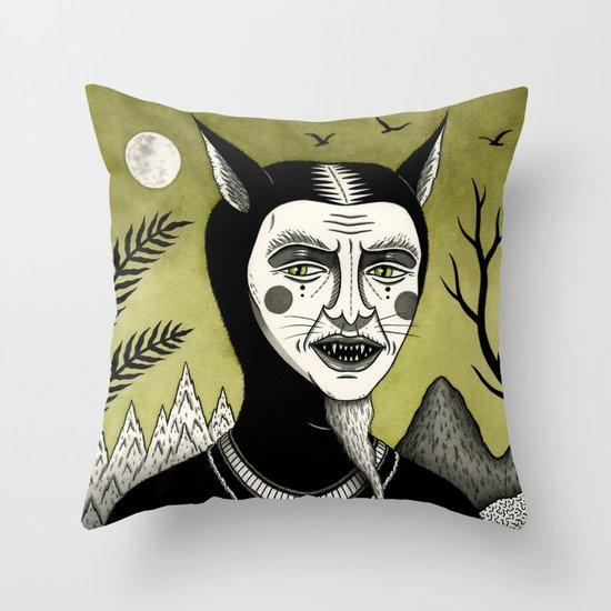 Twilight Green Throw Pillow