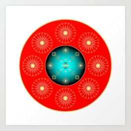 Circle Study No. 446 Art Print