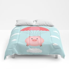 Baby Pig in a Parachute Comforters