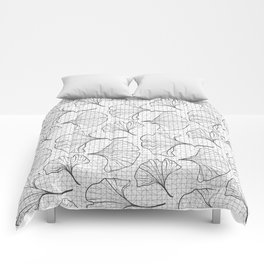 grid in black and petals Comforters