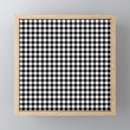 Gingham Black and White Pattern Framed Mini Art Print