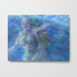 The Swimmer Metal Print