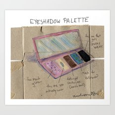 Diagram of an Eyeshadow Palette Art Print