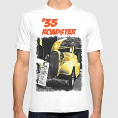 Classic yellow roadster MEDIUM White Mens Fitted Tee