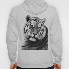 Black and white fractal tiger Hoody