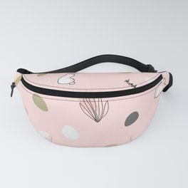 Bunny floral pattern Fanny Pack
