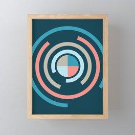 Colorful Circles V Framed Mini Art Print