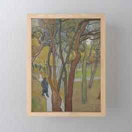 The Garden of Saint Paul's Hospital ('Leaf-Fall') Framed Mini Art Print