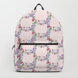 Watercolor florals Pink & Purple (Wreath pattern ) Backpack