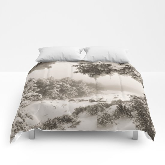 """""""Snow forest"""". At the mountains... Comforters"""