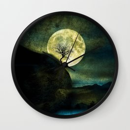 The Moon and the Tree. Wall Clock