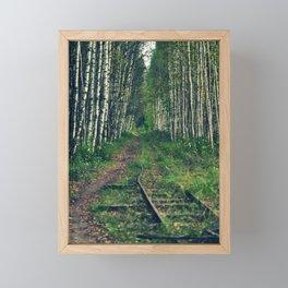 abandoned railway Framed Mini Art Print