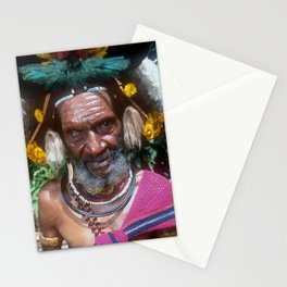 Papua New Guinea Villager Sing Sing Dancer Stationery Cards