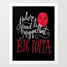 French Poppa Art Print