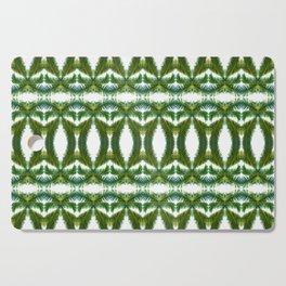 Palm Leaf Kaleidoscope (on white) #2 Cutting Board