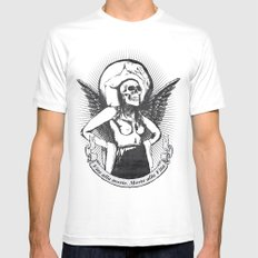 Vita alla morte. Morte alla Vita. White MEDIUM Mens Fitted Tee