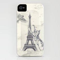 cat attack Slim Case iPhone (4, 4s)