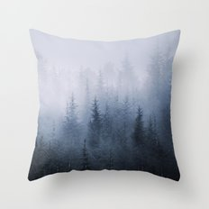 Misty fantasy forest. Throw Pillow