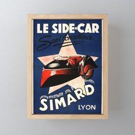 Simard Le Side Car Vintage French Advertising Framed Mini Art Print